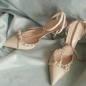 Kate spade jeweled pointed strap heels NWT